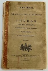 Antique Maps Principal Streets And Places In London Post Office 1857