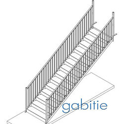 Steel Stairs Main Staircase / General Access / Fire Escape 2400mm Height
