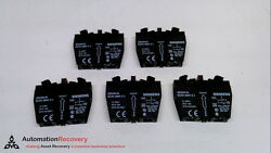 Siemens 3sb3400-0a - Pack Of 5, Contact Block, 2 Contact Elements, New 224324