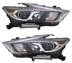 Fits Nissan Maxima 2016-2018 Left Right Led Headlights Head Front Lamps Pair