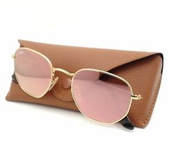 Ray Ban 3548 N 001 Z2 Shiny Gold Flat Copper Flash Mirror New Sunglass Authentic