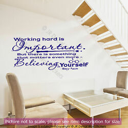 Harry Potter quot;Believing in Yourselfquot; Inspirational quote wall Nursery stickers