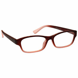 Uv Reader Maroon Front Faded Sides Reading Glasses Womens Mens Inc Case