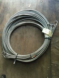One 20and039 Ft 3/8 Stainless St L Braided Trim Tilt Oil Line Hose Boat Auto B10