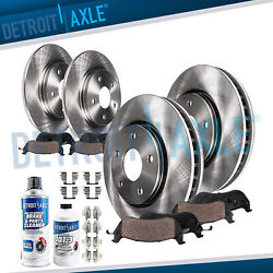 Front And Rear Disc Rotors + Ceramic Brake Pads For 2011 2012 2013 Chevy Impala