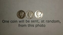 One 1918 S Mercury Silver Dime 1 Coin From Photo Fast Combined Ship W/tracking