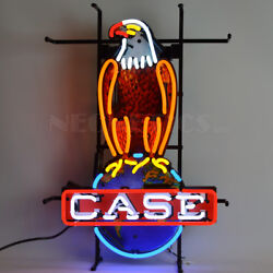 Neon Sign Old Abe Case Eagle American Tractor Licensed By Caseih Ul Farm Lamp