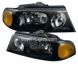 Country Coach Lexa Alexandria 2003 Pair Black Headlights Head Lights Lamps Rv