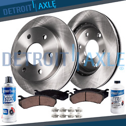 Front Disc Rotors + Brake Pads For 2003-2006 Ford Expedition Lincoln Navigator