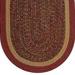 Rust And Camel Tweed Braided Area Rugs By Colonial Rug--many Sizes 489ob