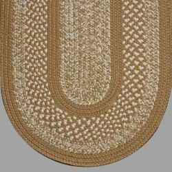 Brown Beige Cream Tweed Braided Area Rugs By Colonial Rug-many Sizes 105