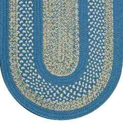 Blue Beige Cream Tweed Braided Area Rugs By Colonial Rug-many Sizes 121