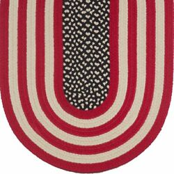 Original American Flag Braided Area Rugs By Colonial Rug-many Sizes
