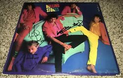 Keith Richards And Charlie Watts Signed Album Dirty Work Rolling Stones Proof