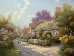 Cobblestone Village Thomas Kinkade PP 1100 18x24 Canvas NEW Authorized Dealer