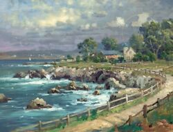 Seaside Village Thomas Kinkade PP 360 18x24 Canvas NEW Authorized Dealer