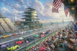 Indy Excitement Indianapolis 500 Thomas Kinkade 10 40x60 Canvas NEW Giclee