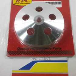 Racing Power Rpc R8847 Power Steering Pulley Satin Aluminum Early Gm Double Gr
