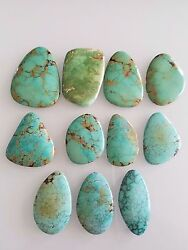 627 Ct Freeform 100 Natural Nevada Large Turquoise Cabochons 42-55mm