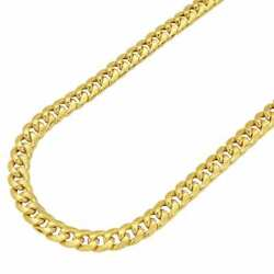 14k Yellow Gold Hollow 7.5mm Miami Cuban Chain Necklace 26