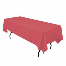 Tablecloth Rectangular Seamless 82x108 Inch By Broward Linens - Variety Colors