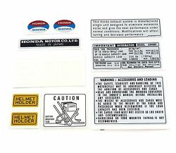 Warning And Service Label Decal Set - 1976 Honda Cb400f Four - Light Ruby Red