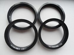 4 Polycarbon Plastics Hub Centric Rings Vehicle Side 67.1mm To Rims Side 72.62mm