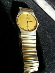 Baume And Mercier GenÈve 18 Kt Gold And Stainless Steel Quartz Ultra Slim Watch