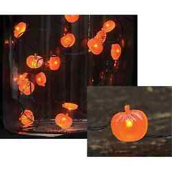 Orange Pumpkin String/string Lights With Timer, 20 Count, Choose Your Quantity