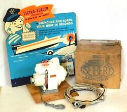 Read Rare 1960s Seibert And Sons Lectro-loader Boat Trailer Winch, Nos, Vintage