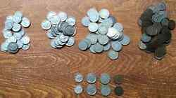 Mercury Dime Lot - Indian Head Cents, Buffalo Nickels, V-nickels 8 Coins Total