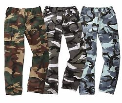 Kids Camo Trouser Army Combat Junior Children BDU Cargo Pants Uniform Outfit New GBP 13.90