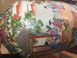 Qing Dynasty Qianlong Famille Flower Vase Rembrant Lamp