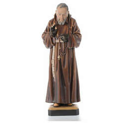 St Father Pio Of Pietralcina Wooden Statue Painted
