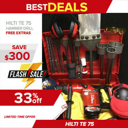 Hilti Te 75 Hammer Drill, Preowned, Free Laser Meter, A Lot Of Extras, Fast Ship
