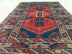 """Authentic 1930-1950s Lambs Wool Natural Dyes Tribal Rug Se Of Turkey 4'x6'8"""""""