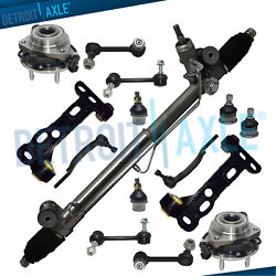 15pc Complete Power Steering Rack and Pinion Suspension Kit for Chevy 16mm wABS