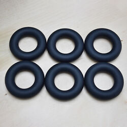 6-Pack Soft Silicone Coaster Round Rings Trivet Exercise Grip (Black)
