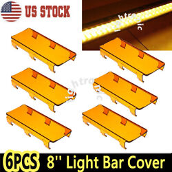 6x 8inch Snap On Amber Lens Cover For Offroad Led Light Bar 50 52 54 42 32