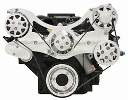 Billet Serpentine Front Drive Ford Fe - Polished - W/ac And Ps