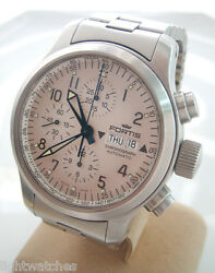 Fortis B-42 Auto Chronograph Day-date For King Size 42 Mm White Color Dial