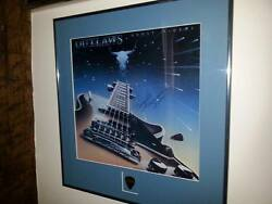 Hugie Thomasson,outlaws Lynyrd Skynyrd Autographed Lp//with Hugie's Guitar Pickh