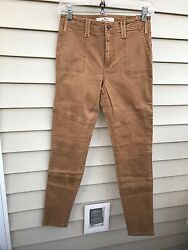 Hollister High Rise Super Skinny Military Pants Stretch Women Size 1r W25 L31