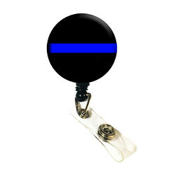 Wholesale Lot Police Thin Blue Line Id Badge Retractable Badge Reels/ Id Holder