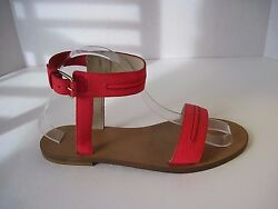 J Crew Hot Pink Leather Ankle Strap Sandals Size 8 1/2 Retail 198 Sold Out New