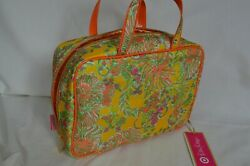 Lilly Pulitzer cosmetic case bag yellow orange green floral print for Target