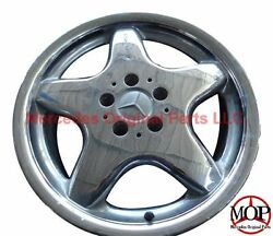 98 99 MERCEDES SL500 WHEEL R129 SL500 SL600 18X8.5 5-SPOKE CHROME AMG RIM SET!