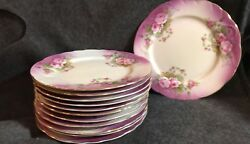 Set Of 12 Lefton China Heavenly Rose Plates Cups And Saucers
