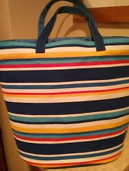 Large Old Navy Canvas Tote Book Beach Bag XL