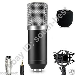 Pro BM700 Condenser Microphone for PC Laptop Broadcasting Studio Shock Mount